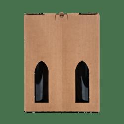 6 stk pap til vin, brun bølge