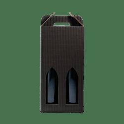 2 stk. pap til vin, sort bølge